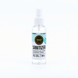 Punch Sanitizer desinfitseerimisvahend 100ml läbipaistev pihustiga pudel