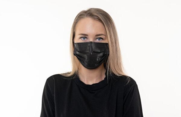 Meditsiinilised kaitsemaskid musta värvi 50tk/pk Medkeskus