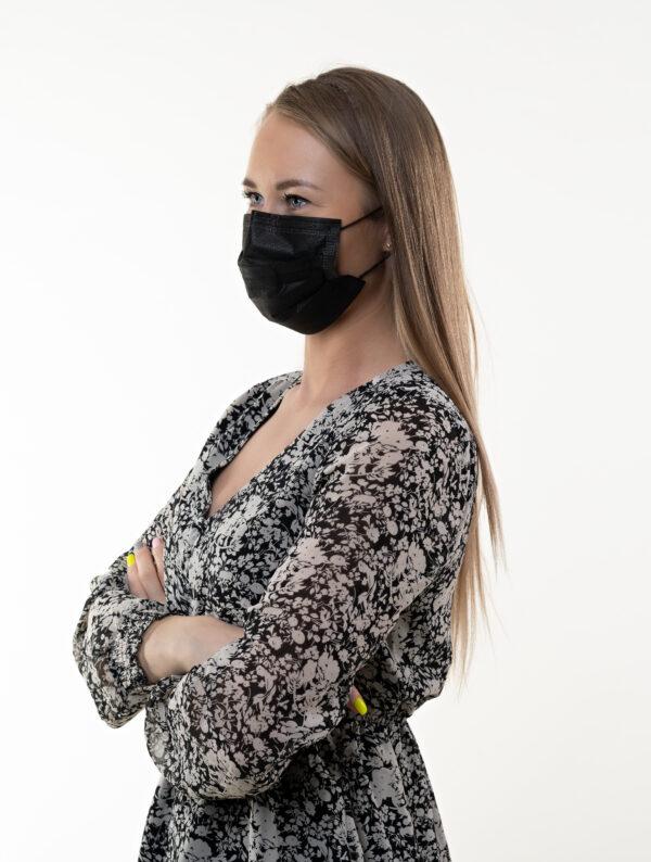 Meditsiinilised kaitsemaskid musta värvi 50tk/pk Medkeskus 3