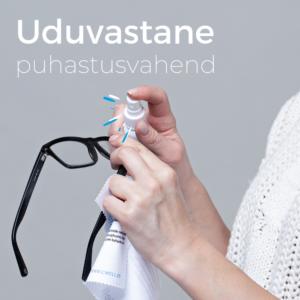 Prillide uduvastane puhastusvahend spray prillide puhastamiseks medkeskus