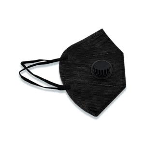 5-kihiline FFP2 kaitsemask, musta värvi