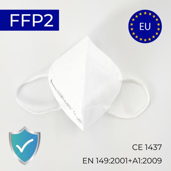 FFP2 EU kaitsemask respiraator mask valge Medkeskus
