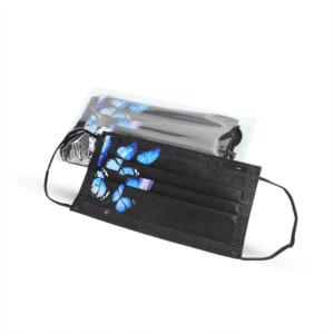 Musta värvi maskid liblikatega kaitsemaskid Medkeskus