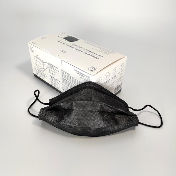 Musta värvi meditsiinilised maskid IIR tüüp 2 R Medkeskus 3