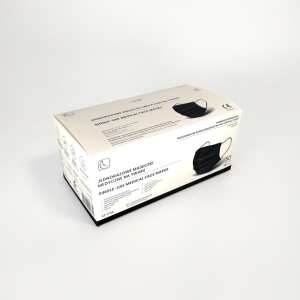 Musta värvi meditsiinilised maskid IIR tüüp 2 R Medkeskus