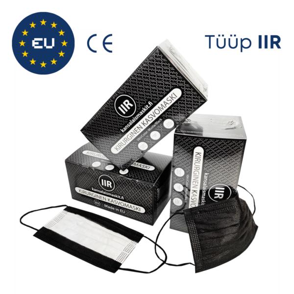 Musta värvi meditsiinilised maskid Tüüp IIR Medkeskus