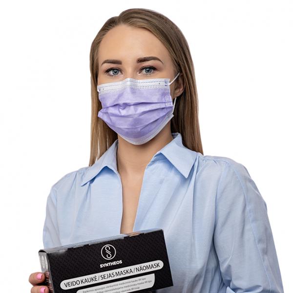 8628 фиолетовая защитная маска медицинский центр