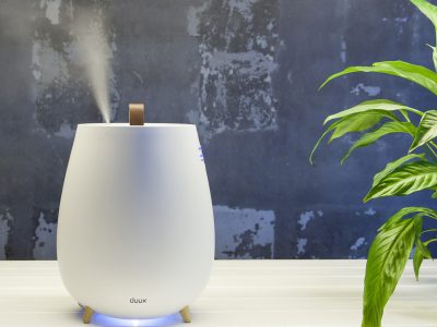 Duux Bundle of Tag Ultrasonic Humidifier & Sense Sense Hygrometer + Thermometer Ultrasonic, 12 W, Water tank capacity 2.5 L, Suitable for rooms up to 30 m², Ultrasonic, Humidification capacity 250 ml/hr, White